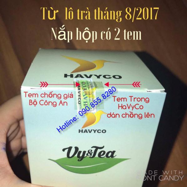 phân biệt trà giảm cân vy&tea thật và giả